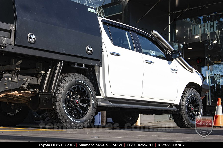 17x9.0 Simmons MAX X11 MBW on TOYOTA HILUX SR