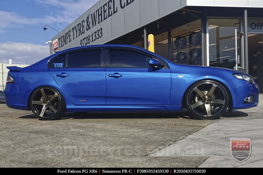 20x8.5 20x10 Simmons FR-C Copper Tint NCT on FORD FALCON FG