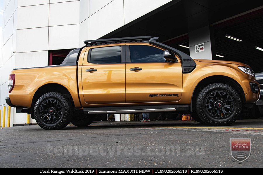 18x9.0 Simmons MAX X11 MBW on FORD RANGER WILDTRAK