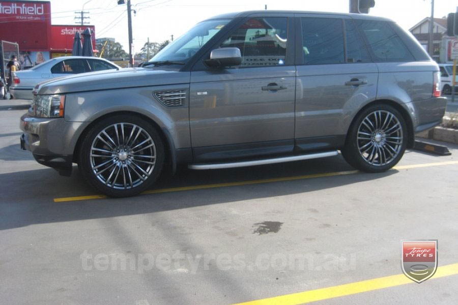 22x9.5 Lenso Como Shadow on RANGE ROVER SPORT