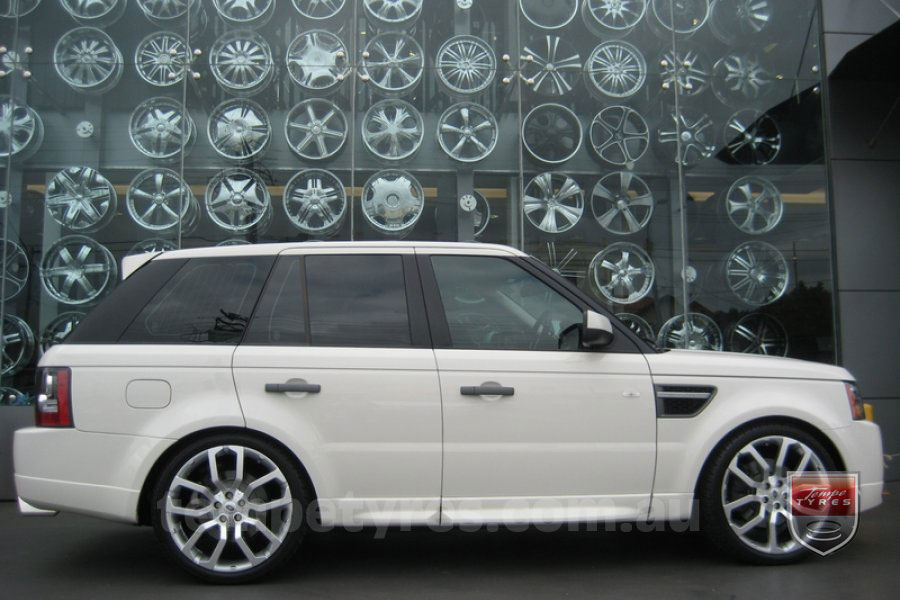 22x10 LRX Concept Silver on RANGE ROVER SPORT