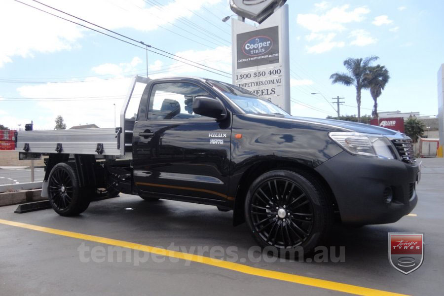20x8.5 Lenso Como Black on TOYOTA HILUX