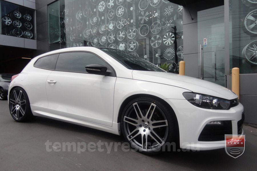 20x9.0 Style201 Gunmetal on VW SCIROCCO