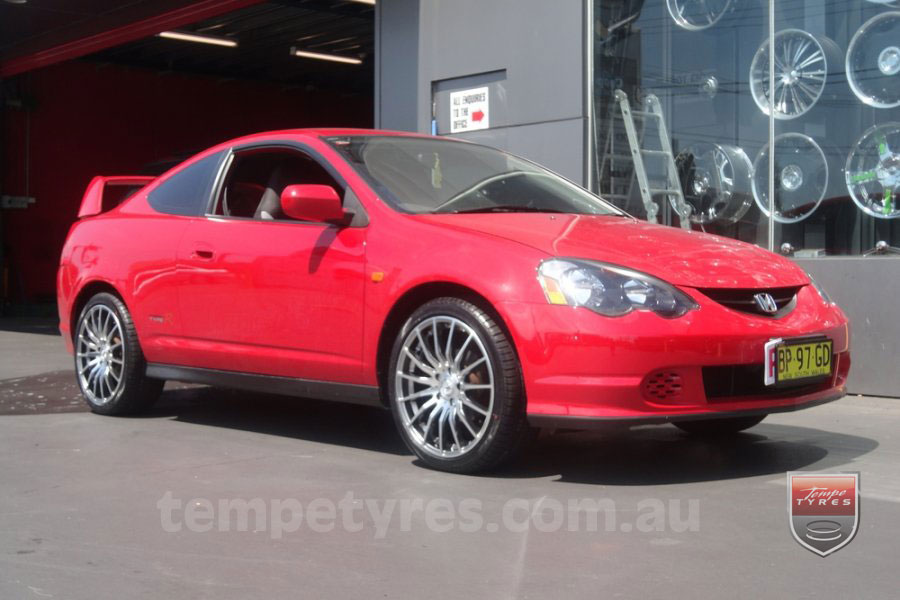 18x8.0 Lenso Conquista 5 CQ5 on HONDA INTEGRA