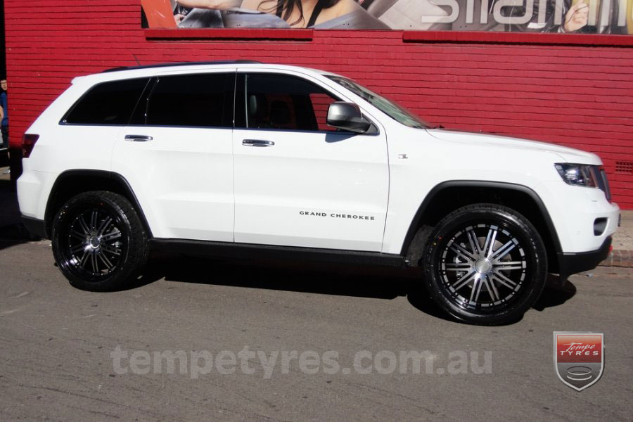 22x9.5 Lenso Symphony - BKI on JEEP GRAND CHEROKEE