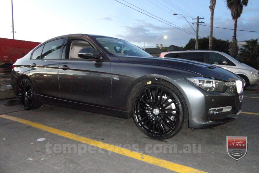 20x8.5 Lenso Como Black on BMW 3 SERIES
