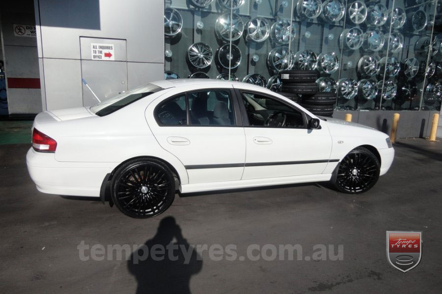 20x8.5 Lenso Como Black on FORD FALCON