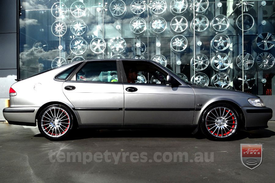 17x7.5 Fox X-tuning on SAAB 900