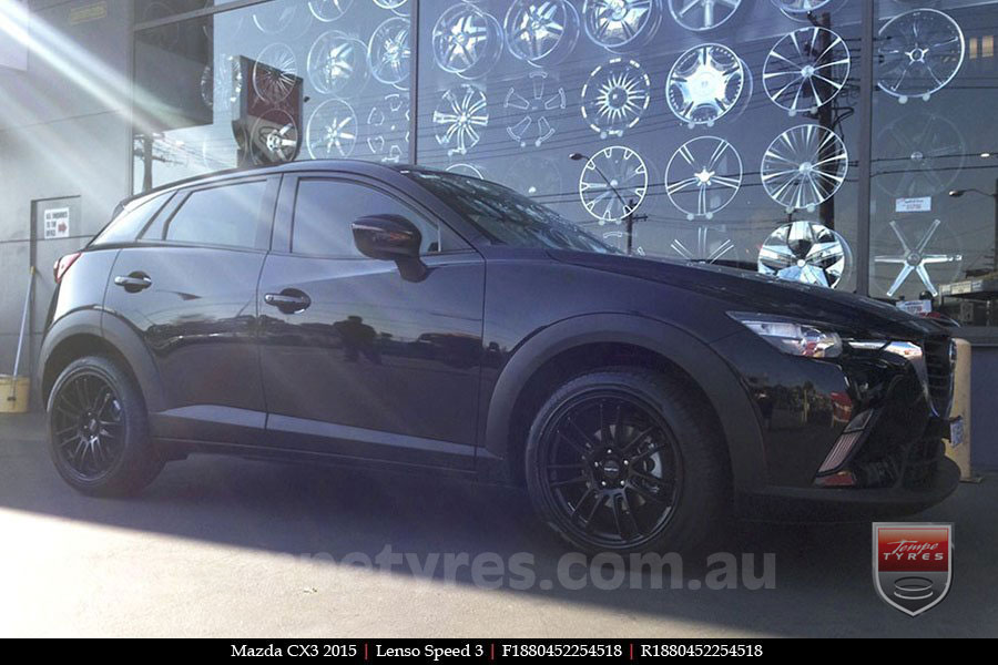 18x8.0 Lenso Speed 3 SP3 on MAZDA CX3