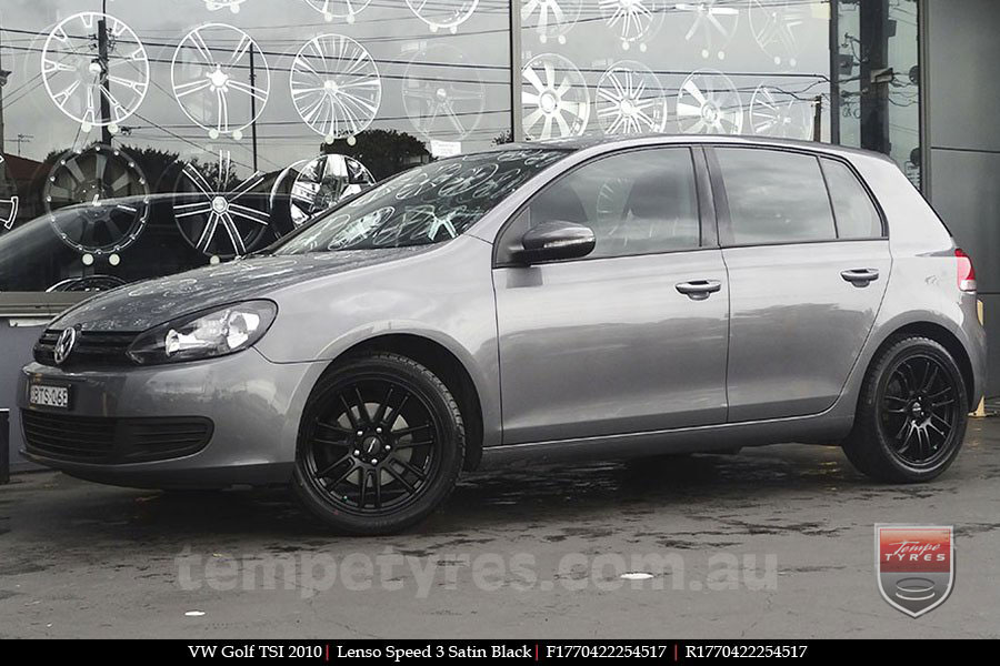 17x7.0 Lenso Speed 3 SP3 on VW GOLF TSI