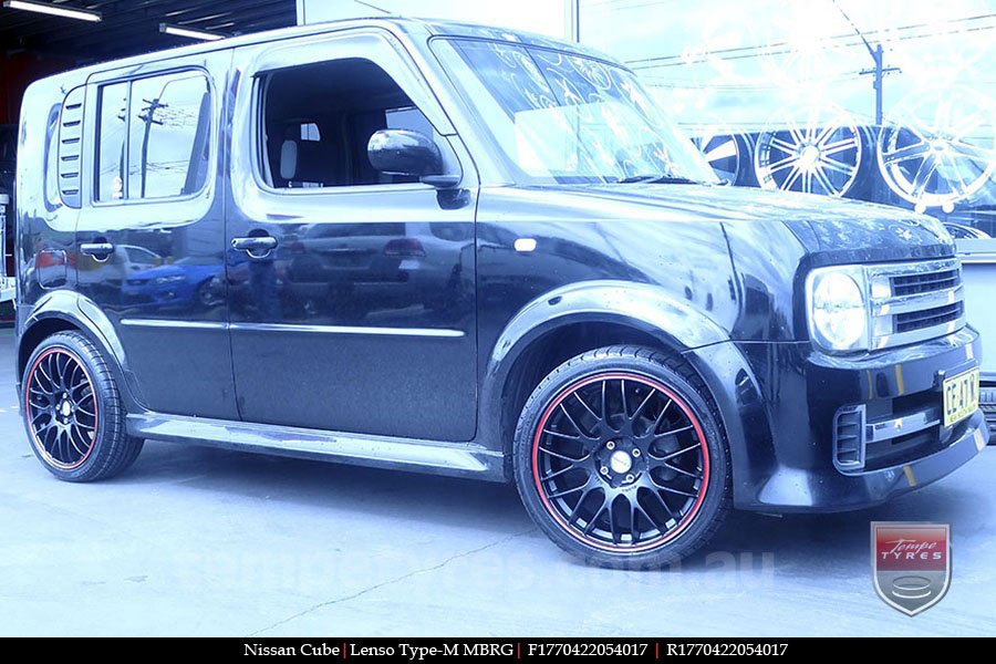 17x7.0 Lenso Type-M - MBRG on NISSAN CUBE
