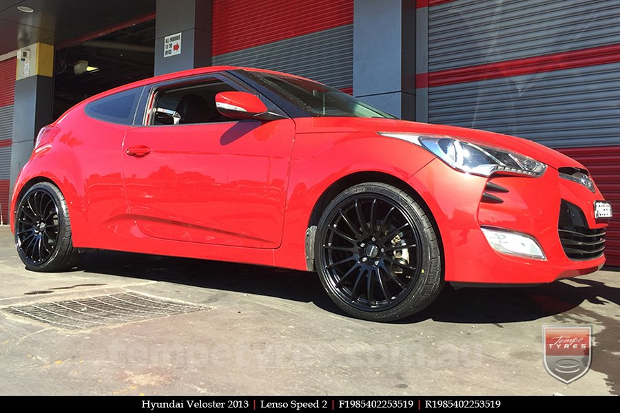 19x8.5 19x9.5 Lenso Speed 2 SP2 on HYUNDAI VELOSTER