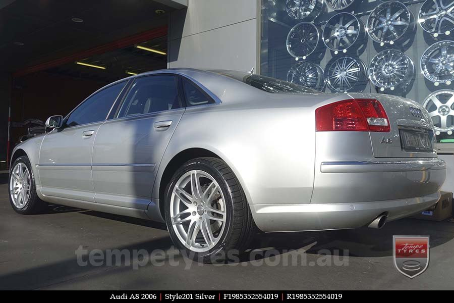 19x8.5 Style201 Silver on AUDI A8