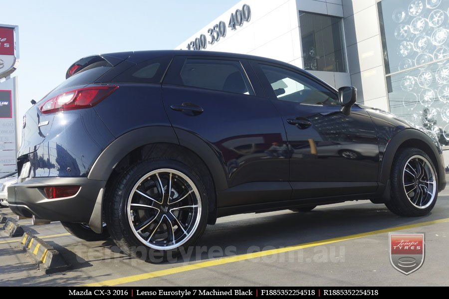 18x8.5 Lenso Eurostyle 7 ES7 on MAZDA CX3