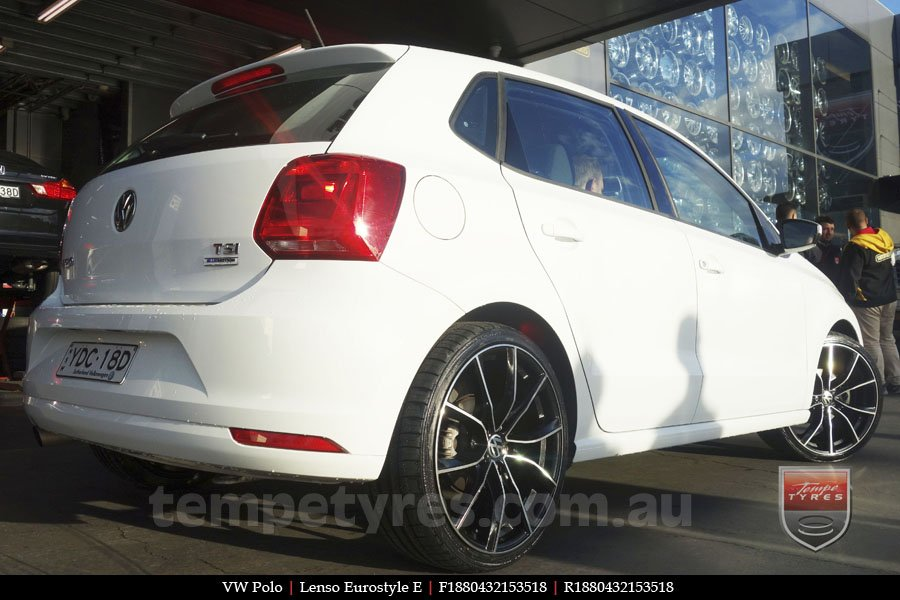 18x8.0 Lenso Eurostyle E ESE on VW POLO