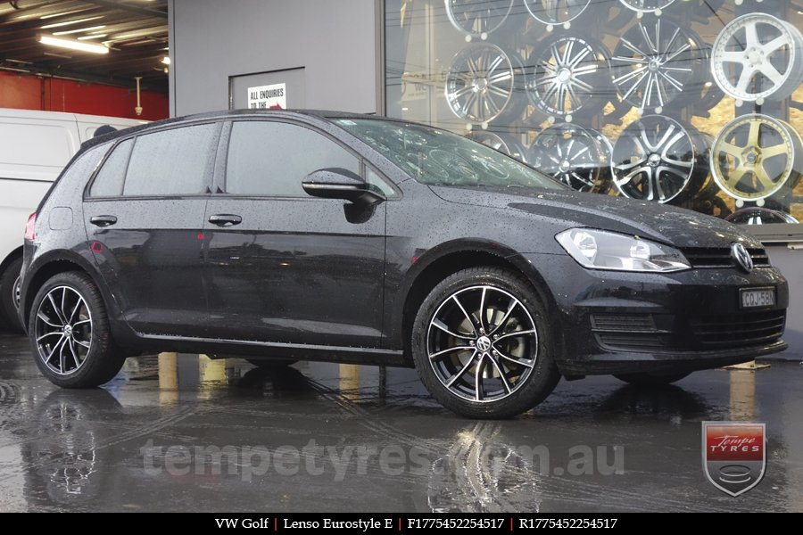 17x7.5 Lenso Eurostyle E ESE on VW GOLF