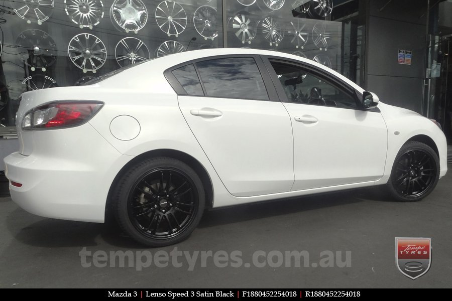 18x8.0 Lenso Speed 3 SP3 on MAZDA 3