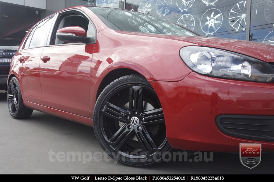 18x8.0 R Spec Black on VW GOLF