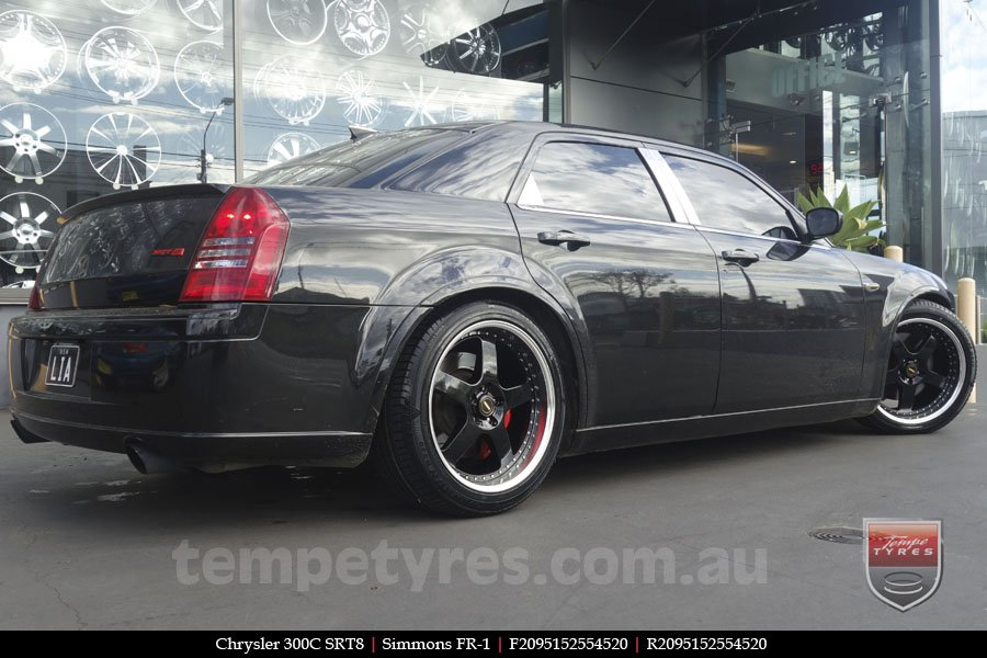 20x8.5 20x9.5 Simmons FR-1 Gloss Black on CHRYSLER 300C