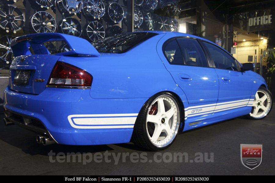 20x8.5 20x9.5 FR20-1 White on FORD BF FALCON