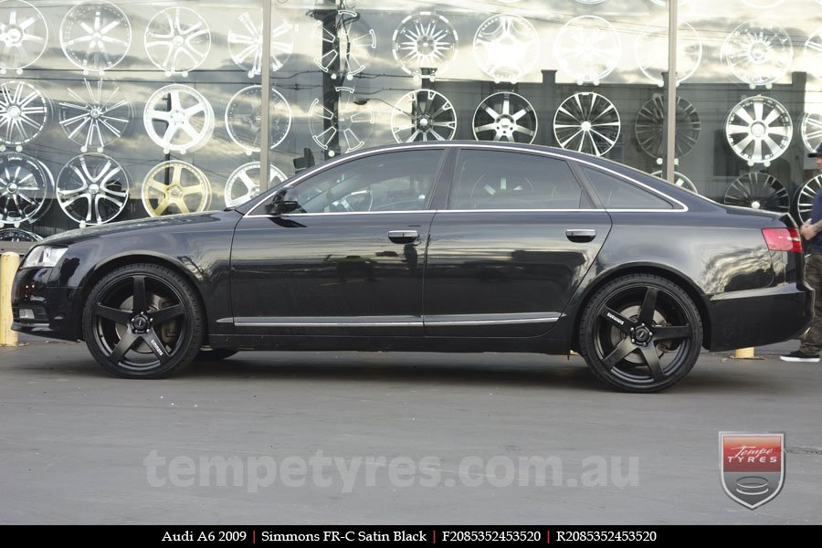 20x8.5 20x10 Simmons FR-C Full Satin Black on AUDI A6