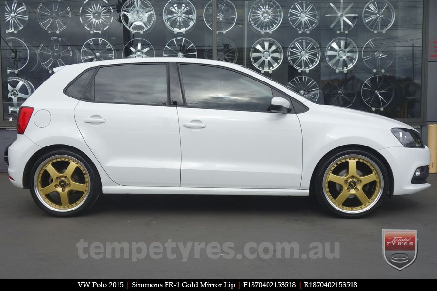 18x7.0 18x8.5 FR18-1 Gold on VW POLO