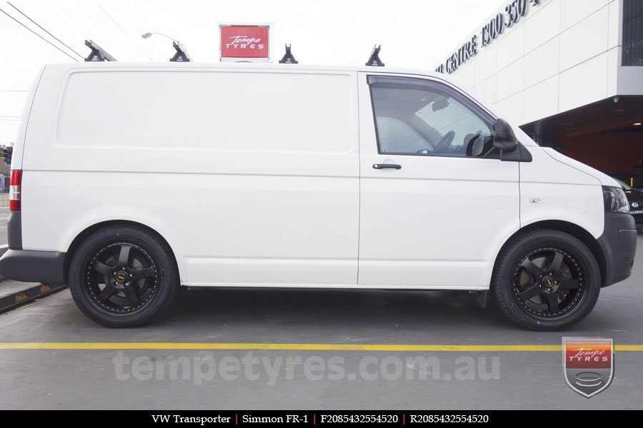 20x8.5 20x9.5 Simmons FR-1 Satin Black on VW TRANSPORTER