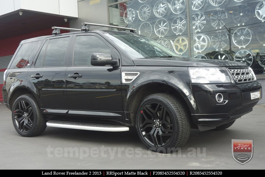 20x8.5 RRSPORT Matte Black on LAND ROVER FREELANDER 2