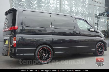 18x8.0 Lenso Type-M MBRG on NISSAN ELGRAND