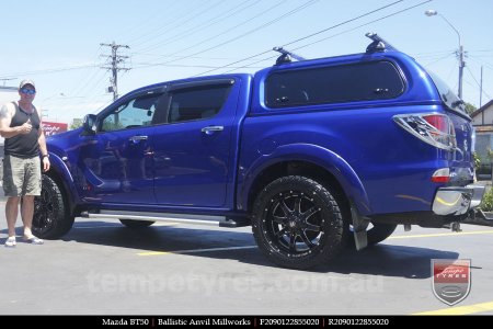 20x9.0 Ballistic Anvil Millworks on MAZDA BT50