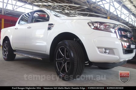 20x9.0 Simmons S6S Matte Black on FORD RANGER