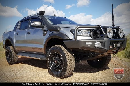 17x9.0 Ballistic Anvil Millworks on FORD RANGER WILDTRAK