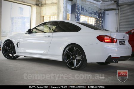 20x8.5 20x10 Simmons FR-CS Satin Black on BMW 4 SERIES