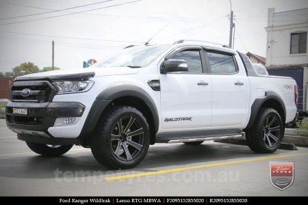 20x9.5 Lenso RTG MBWA on FORD RANGER WILDTRAK