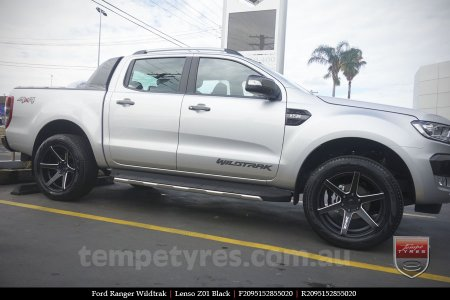 20x95 Lenso Z01 Black On FORD RANGER WILDTRAK