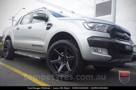 20x9.5 Lenso Z01 Black on FORD RANGER WILDTRAK