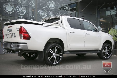 22x9.5 Panther Vector Black on TOYOTA HILUX SR5
