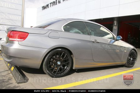 18x8.0 M3CSL Black on BMW 325i E92