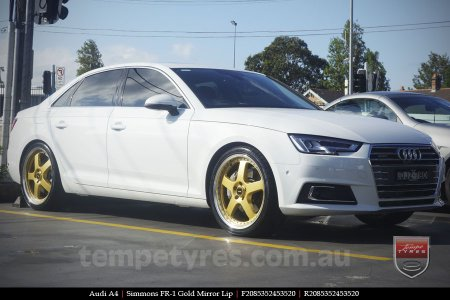 20x8.5 20x9.5 Simmons FR-1 Gold on AUDI A4