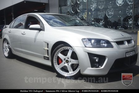 20x8.5 20x9.5 Simmons FR-1 Silver on HOLDEN CLUBSPORT