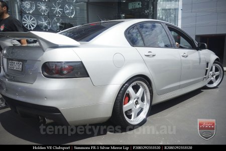 20x8.5 20x9.5 Simmons FR-1 Silver on HOLDEN VE CLUBSPORT
