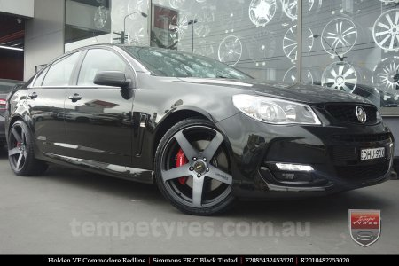 20x8.5 20x10 Simmons FR-C Black Tinted on HOLDEN VF COMMODORE