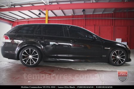 18X8.5 Lenso ESA Black on HOLDEN COMMODORE VE