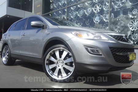 22x9.5 Lenso Concerto - BKI on MAZDA CX9