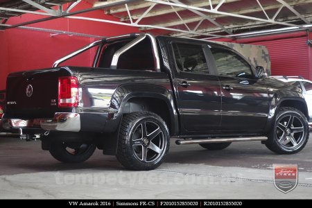 20x8.5 20x10 Simmons FR-CS Satin Black on VW AMAROK