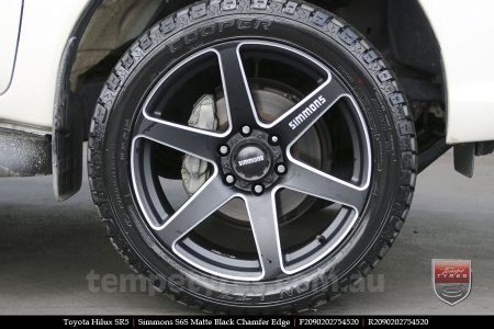 20x9.0 Simmons S6S Matte Black on TOYOTA HILUX SR5