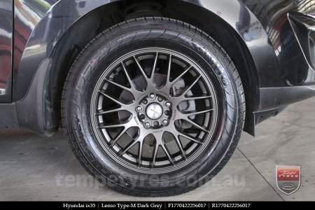 17x7.0 Lenso Type-M - DG on HYUNDAI IX35