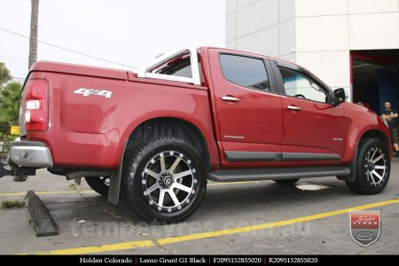 20x9.5 Lenso Grunt G1 Black on HOLDEN COLORADO