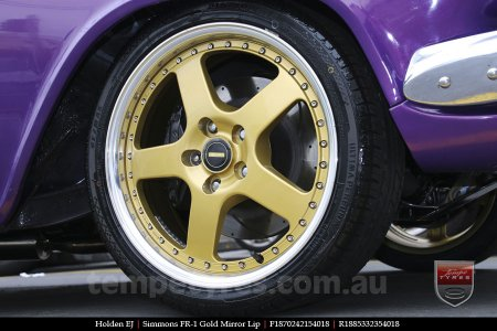 18x7.0 18x8.5 Simmons FR-1 Gold on HOLDEN EJ