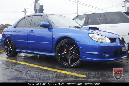 20x8.5 20x10 Simmons FR-CS Satin Black on SUBARU WRX